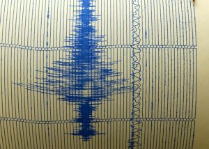 A seismograph at the Saint Louis University Earthquake Center continues to record seismographic activity after recording an earthquake around 1:11 a.m. CDT that measured 4.5 in St. Louis, Monday, June 28, 2004. The U.S. Geological Survey in Colorado, said the quake's epicenter was about eight miles northwest of Ottawa in northern Illinois, close to the small village of Troy Grove, a rural area is about 70 miles west of Chicago. No damage has been reported. (AP Photo/Charles Rex Arbogast)